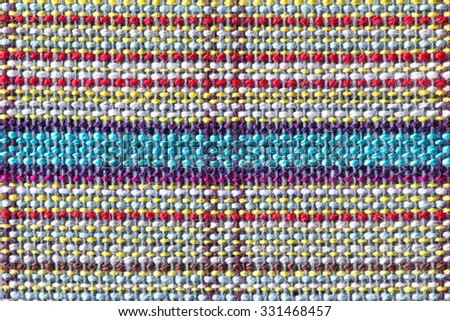 close up of Fabric plaid texture. Geometric background - stock photo