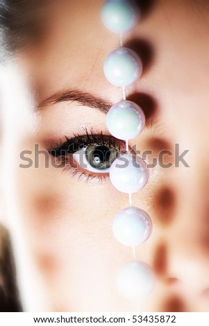 Close-up of face - stock photo