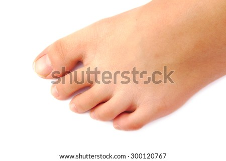 Close up of female foot and toes - stock photo