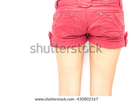 Close-up of female legs, legs skin for healthy care and beauty concept - stock photo