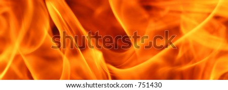 close up of flames - stock photo