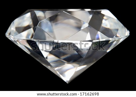 Close-Up Of Flawless Diamond - stock photo