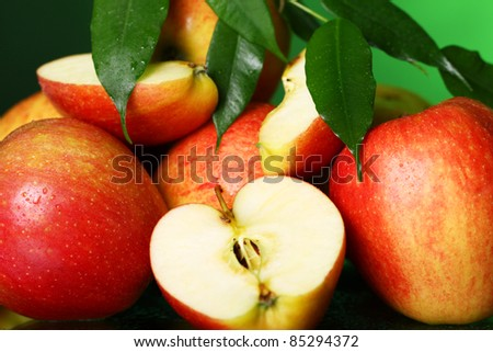 Close up of fresh and tasty apples - stock photo