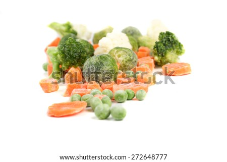 Close-up of frozen food vegetables - stock photo