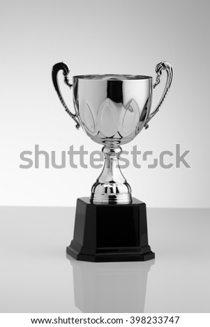 close up of golden trophy cup  - stock photo