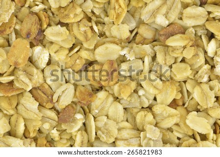 Close-up of granola to use as background - stock photo