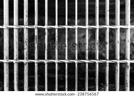 Close up of grunge grate on the floor - stock photo
