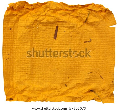 Close up of handmade paper for background - stock photo
