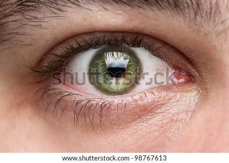 Close up of human eye - stock photo