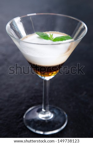 Close-up of Ice coffee cup - stock photo