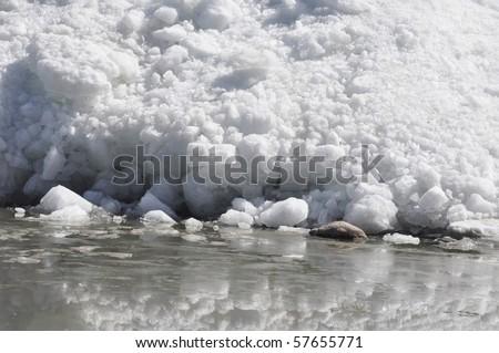 close up of iceberg - stock photo