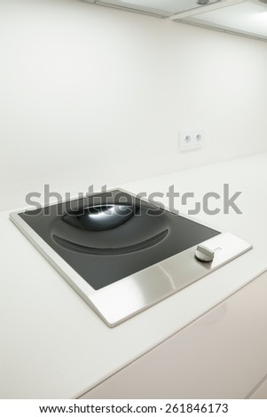 Close-up of induction hob ideal for wok - stock photo