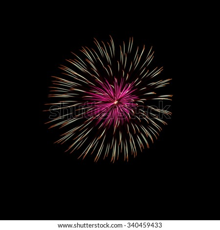 Close-up of Japanese Fireworks in Summer Festival - stock photo