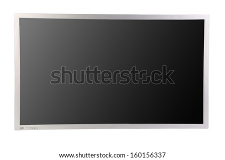 Close up of lcd screen. Isolated on a white background. - stock photo