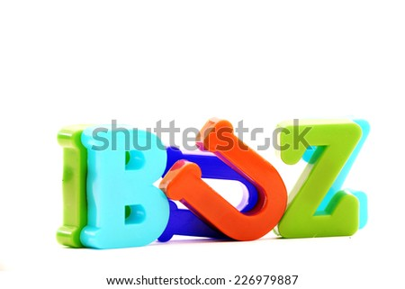 """Close-up of letters. """"Buzz"""" word. - stock photo"""