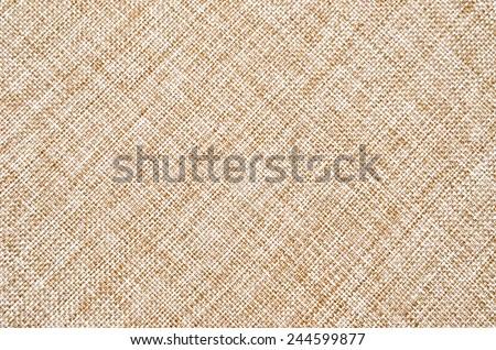 Close up of light burlap texture background - stock photo