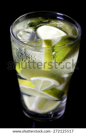 Close up of lime drink - stock photo