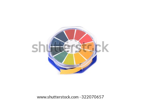 close-up of litmus paper roll for testing acid level - stock photo