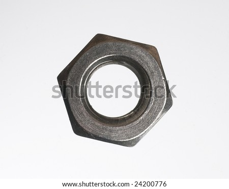 Close up of lone nut - stock photo