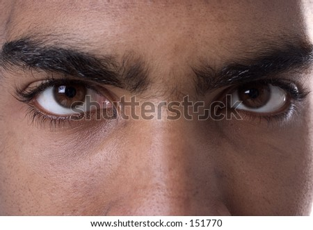 Close up of mans eyes - stock photo