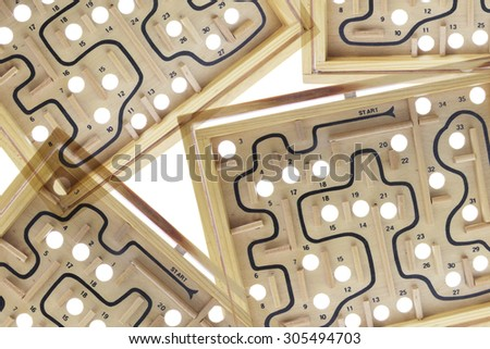 Close Up of Maze Game  - stock photo