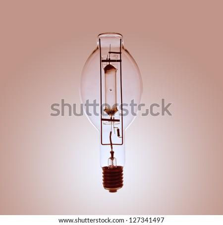 close-up of mercury lamp - stock photo