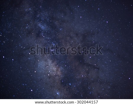 Close-up of Milky Way, Taken via star tracker, low noise high quality - stock photo