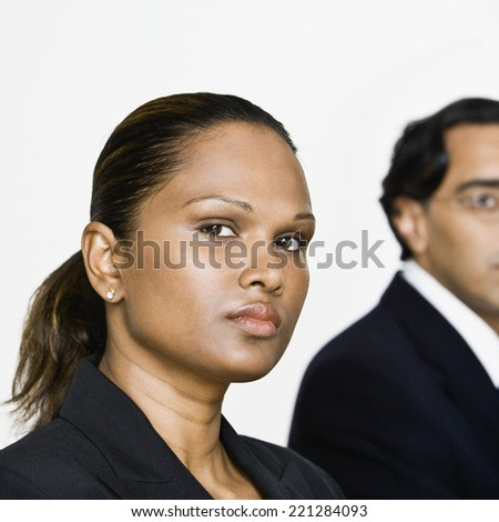 Close up of Mixed Race businesswoman - stock photo