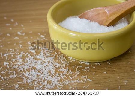 Close up of monosodium glutamate - stock photo