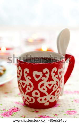 Close-up of mulled wine with spices for Christmas - stock photo