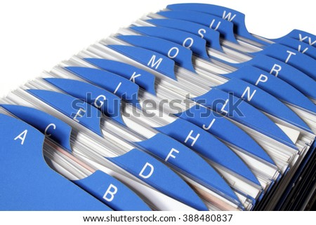Close Up of Name Card Holder  - stock photo