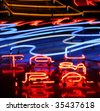 close up of neon sign - stock photo