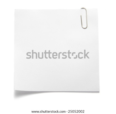 close up of note pad reminder on wall, with clipping path - stock photo