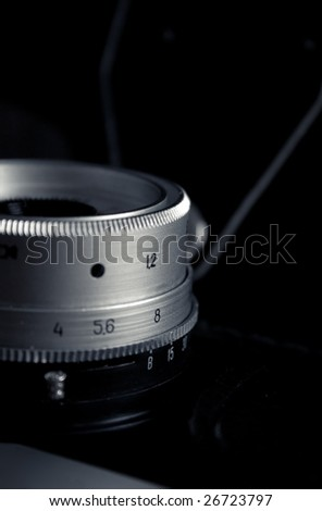 Close-up of old camera - stock photo