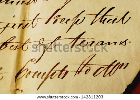 Close up of  old letter - Background Textures - stock photo