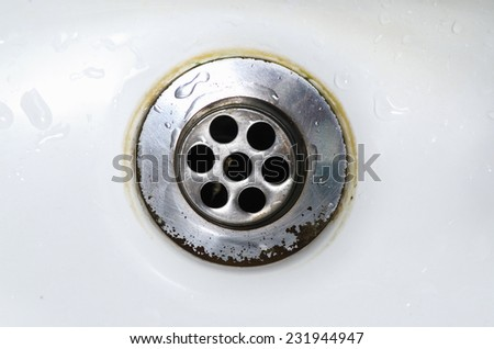 Close-up of old sink - stock photo