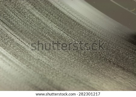 Close up of old vinyl single records - stock photo