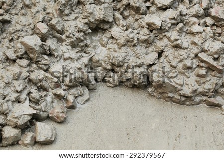 Close up of oncrete mixture for connstruction - stock photo