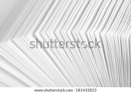Close-up of open business catalog with ring binder - stock photo