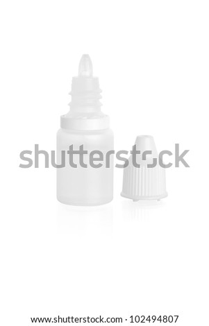 close up of open plastic bottle isolated on white - stock photo