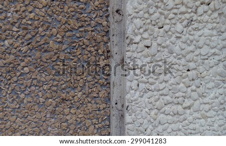 close up of pebble stone wall texture background - stock photo