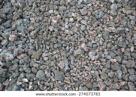 Close up of Pile of lava rocks on the Big Island, Hawaii                                - stock photo
