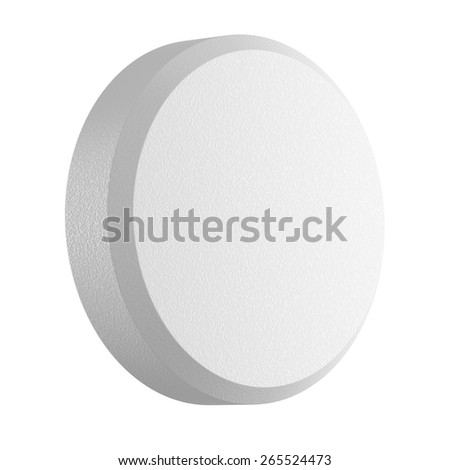 Close up of pill capsule isolated on white, 3d illustration - stock photo