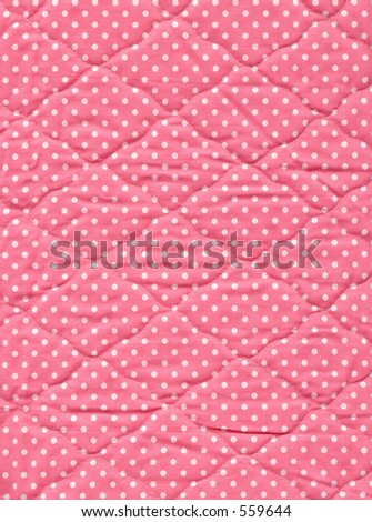 Close up of pink quilt. - stock photo