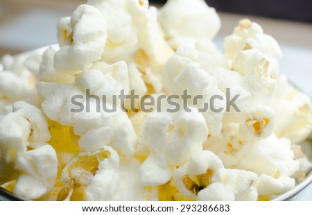 Close-up of popcorn.Soft focus and filter image  - stock photo