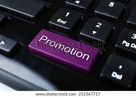 Close up of Promotion keyboard button - stock photo