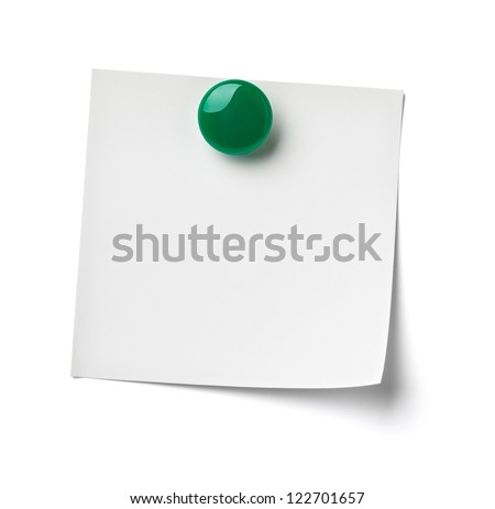 close up of reminder on white background refrigerator - stock photo