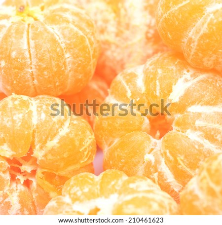 close up of ripe tangerines - stock photo