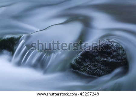 close up of river stream - stock photo
