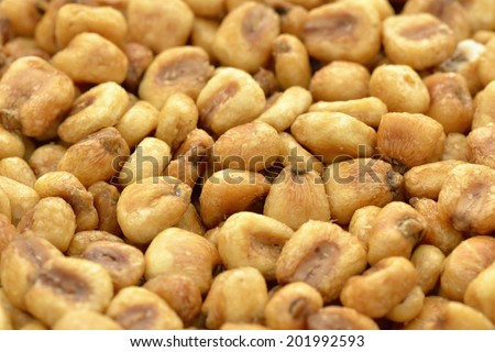 Close-up of roasted corn nuts to use as background  - stock photo